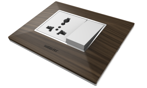 edge modular switches - Teak Wood